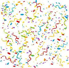 party confetti party background with color confetti stock vector colourbox