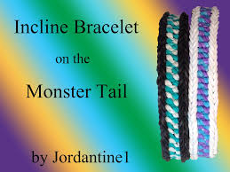 new incline bracelet reversible monster tail rainbow loom