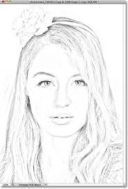 portrait photo to color sketch photoshop tutorial