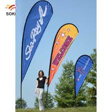 Feather Flag Pole 3 5m Flying Banner Beach Flag Outdoor Feather Flag Flagpole
