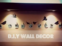 wake up sid home decor diy easy wall decor birds on wall youtube
