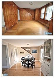 kitchen paneling ideas knotty pine panelling transformed by paint neat kitchen and