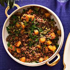rice with roasted butternut squash family circle