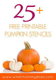 25 free printable pumpkin stencils what mommy does