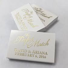 wedding matches the match gold foil design 100 pcs personalized