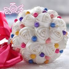 Artificial Flower Bouquets Candy Color Artificial Wedding Bouquets 2017 Sale Big Bridal