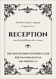reception card black and white reception card wedding enclosure cards