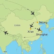 map of xi an beijing xi an shanghai customizable itinerary from asia