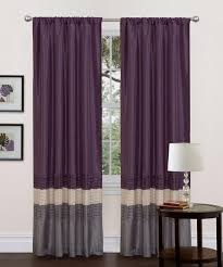 purple curtains with grey and beige color scheme for windows