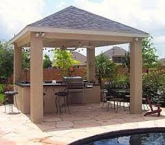 Covered Gazebos For Patios Best 25 Covered Outdoor Kitchens Ideas On Pinterest Outdoor