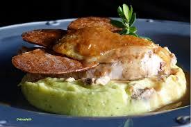 cuisine pintade supreme de pintade fermiere sur mousseline de panais au foie gras