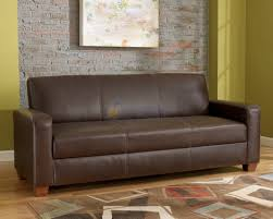dark brown faux leather bark futon sofa bed with storage with sofa