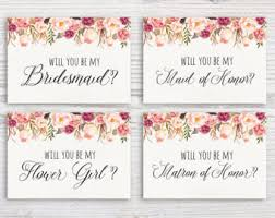 bridesmaid invitation will you be my of honor printable card will you be my