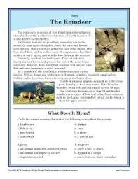 free printable reindeer activities reindeer freebie informational text story and poem best of