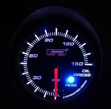 oil pressure warning light 52mm electrical oil pressure gauge with warning and peak twos r us