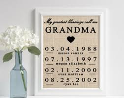 gifts for grandmothers personalized gifts etsy