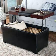 Leather Storage Ottoman Coffee Table Lovely Leather Storage Ottoman Coffee Table Taptotripme Coffee