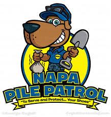 napa pile control cartoon logo dog