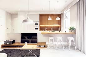 cuisine blanche ouverte sur salon cuisine blanche et bois en 20 variantes cosy chics parfaitement