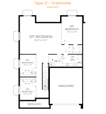 Townhome Floor Plan Designs Townhome Type D Edgehomes