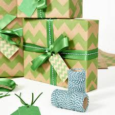 green christmas wrapping paper green chevron brown christmas wrapping paper by