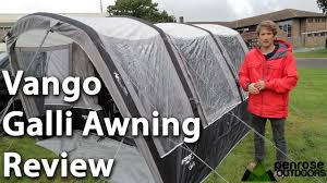 Air Awning Reviews Vango Galli Airbeam Van Awning Review Youtube