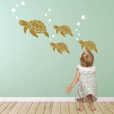 sea turtle wall sticker decals wall sticker turtle and studio