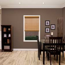 Home Depot Faux Wood Blinds Instructions 2 In Economy Fauxwood Blinds Thehomedepot