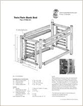 Log Bunk Bed Plans Log Bed Plans Log Furniture Plans Wood Working Plans Kits