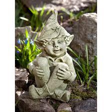 Garden Art International Campania International Aria The Elf Cast Stone Garden Statue