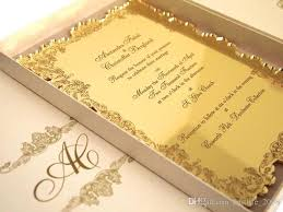 acrylic wedding invitations high quality acrylic gold customized wedding invitations acrylic