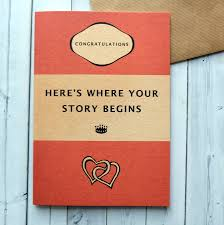 Book Birthday Card Book Lovers Where Your Story Begins Wedding Card By Bookishly