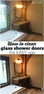 Keeping Shower Doors Clean How To Clean Glass Shower Doors The Easy Way And Get