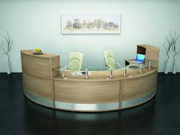 Glass Reception Desk 1800mm Radius Curved Reception Desk With Glass Shelf Online Reality