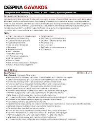 Detail Oriented Resume Despina Gavakos Resume 2017