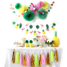 decorations sale aliexpress buy hot sale a set flamingos theme hawaiian party