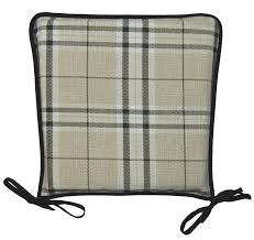 Dining Room Chair Pads And Cushions Kitchen Seat Pad 100 Polyester Tartan Check Garden Dining Square