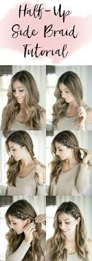 hair tutorial beauty half up side braid hair tutorial lauren mcbride