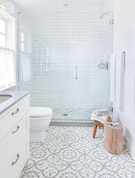 Tile Floor In Bathroom 10 Beyond Stylish Bathrooms With Patterned Encaustic Tile