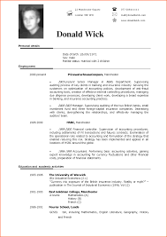 Sample Resume In English by Resume In English Examples Free Resume Example And Writing Download
