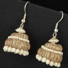 jute earrings jute jewellery jute necklace exporter from kolkata