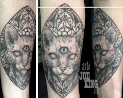 tattoo cat off the map tattoo