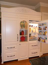 custom fridge built to look like furniture sub zero separate