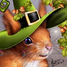 halloween orchestra squirrel with cymbals illustration store