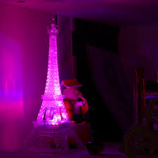 led color change romantic eiffel tower led night light bedroom