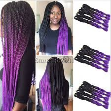 braided extensions synthetic braiding hair extensions two tone black purple kanekalon