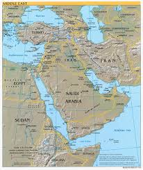 Physical Map Of Asia by Middle East Geography Lessons Tes Teach