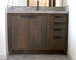 shabby chic unfinished barn wood ikea bathroom vanity cabinet