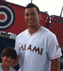giancarlo stanton marlins jpg file picture of giancarlo stanton during marlins fanfest 2012 jpg