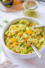 mango avocado pasta salad with cilantro lime dressing recipe